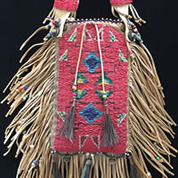 Photo of Charles Fast Horse Beaded Bag