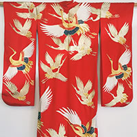 Photo of Japanese Wedding Kimono, circa 1930