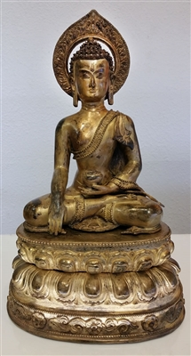 Photo of Nepalese Buddha, circa 1850-1900