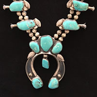 Photo of Navajo Squash Blossom Necklace, Circa 1960