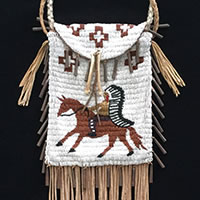 Photo of Plains Indian Beaded Bag, Circa 1975