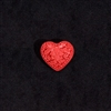 "Cinnabar - 1x1-1/4"" Heart - Large"