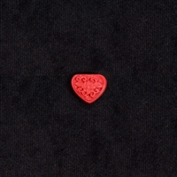 "Cinnabar - 5/8x7/8"" Heart - Small"