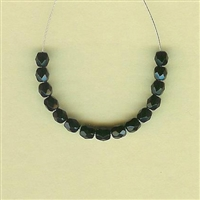 Faceted Glass - 4mm, black