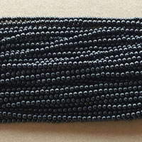 "Photo of 15"" strands 2mm Polished Black Onyx Beads"