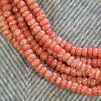 Photo of 5-6mm Vintage Coral Rondelle Beads
