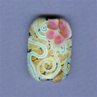 Blooming Prickly Pear Focal Bead - large
