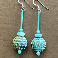 Photo of the Turquoise Trails Earrings Kit