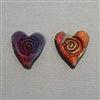 Photo of Raku Heart Beads - Medium