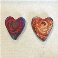 Photo of Individual Raku Heart Earring Beads