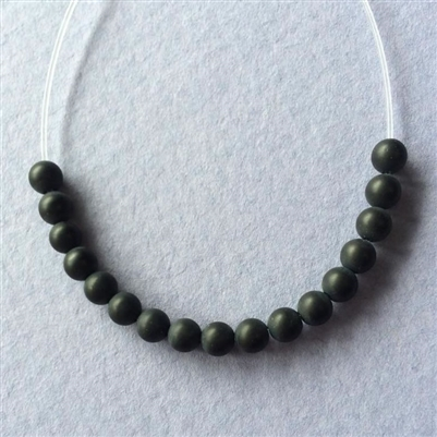 Black Onyx - 4mm matte finish