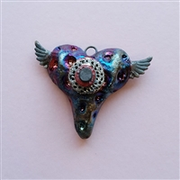 Photo of The Winged Heart Raku Pendant