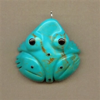 Zuni Indian Frog Fetish Pendant