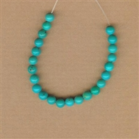 Turquoise Beads by the inch - 4mm