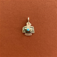 Photo of the 15mm Navajo SS Thunderbird-Turquoise Pendant