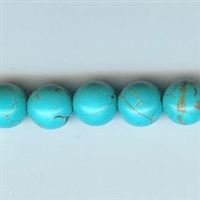 8mm Turquoise-colored Magnasite