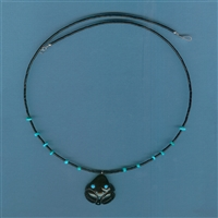 Zuni Jet Frog Necklace Kit