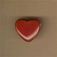 Bead-Red Heart 27mm