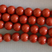 "Photo of 16"" Strands of Round 8mm Red Jasper"