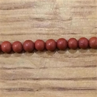 Photo of 4mm Red Jasper beads - matte finish