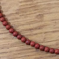 "Photo of 4mm Red Jasper beads - matte finish - 15"" strands"