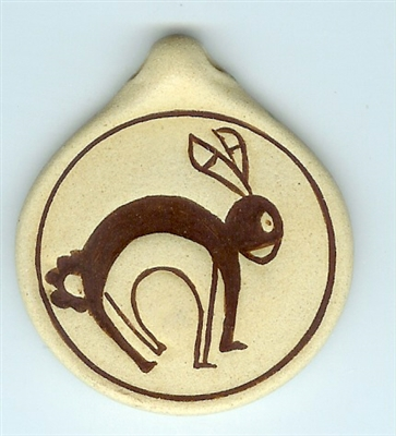 Clay Rabbit Pendant