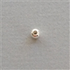 Sterling Silver Bead: round 4 mm
