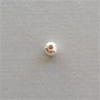 Sterling Silver Bead: round 6 mm