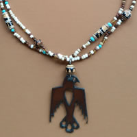 Photo of the Red Mesa Thunderbird Necklace Kit