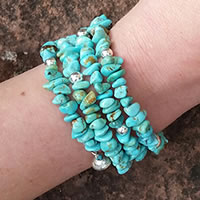Arizona Turquoise Memory Wire Bracelet Kit