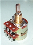 100k ohm CTS Dual Stacked Audio Taper Potentiometer with Solder Lugs