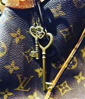 Key on Leather Bag Tag