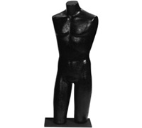 Black Male Torso Body Forms - Snap Base