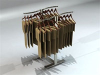 4-Way Adjustable S-Shaped Clothing Displays