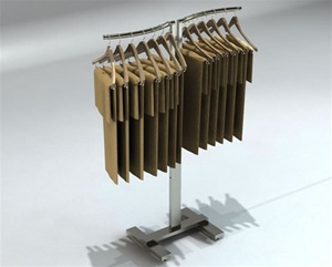 2-Way Adjustable S-Shaped Clothing Displays