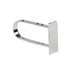 0.5 x 1.5 in. End Cap Slatwall Hangrail Brackets