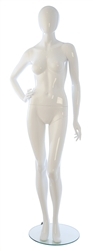 Female Mannequins: Hand on Hip, Leg Bent, Oval Head