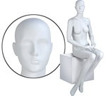Female Mannequins: Seated, Hands on Lap, Headless
