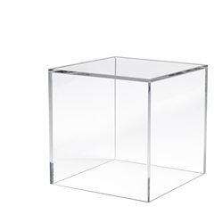6 x 6 x 6 in. 5 Sided Acrylic Display Cubes
