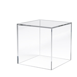 8 x 8 x 8  in. 5 Sided Acrylic Display Cubes