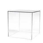 12 x 12 x 12 in. 5 Sided Acrylic Display Cubes