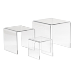 3,5,7 in. Set of 3 Acrylic Display Risers