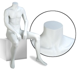Male Mannequins: Seated, Headless