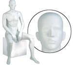 Male Mannequins: Seated, Abstract Head