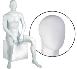 Male Mannequins: Seated, Oval Head