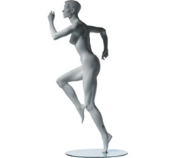 Female Mannequins: Running Sports, Leg Forward