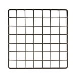 10 x 10 Black Grid Wire Cubbies