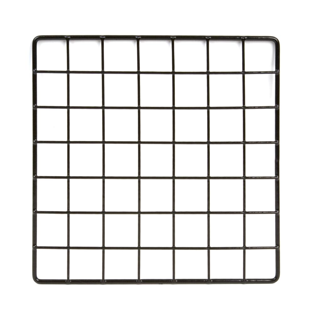 10 x 10 black grid wire cubbies gridwall wire box