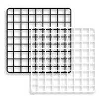 14 in. Black Grid Squares