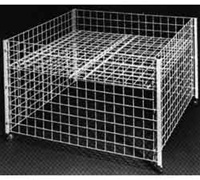 36 in. Square Grid Dump Bins